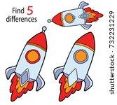 vector illustration of kids... | Shutterstock .eps vector #732231229