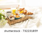 Continental Breakfast On White...