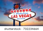 welcome to fabulous las vegas... | Shutterstock . vector #732234664