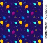 balloons pattern and geometric... | Shutterstock .eps vector #732239011