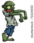 Cartoon Zombie Isolated On...