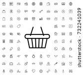 shopping basket icon. set of... | Shutterstock .eps vector #732241039