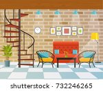 interior of the cafe or... | Shutterstock .eps vector #732246265