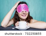 relaxation concept  smiling...   Shutterstock . vector #732250855