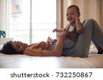 young mother spending time with ... | Shutterstock . vector #732250867