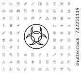 hazard icon. set of outline... | Shutterstock .eps vector #732251119