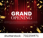 grand opening event design gold ... | Shutterstock .eps vector #732254971