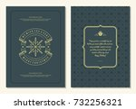 christmas greeting card design... | Shutterstock .eps vector #732256321