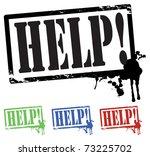 help stamps | Shutterstock .eps vector #73225702
