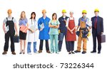 workers people | Shutterstock . vector #73226344