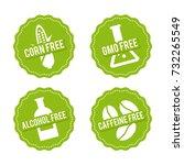 set of allergen free badges.... | Shutterstock .eps vector #732265549