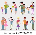 father kids family son and... | Shutterstock .eps vector #732266521