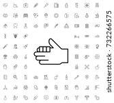 bandaged finger icon. set of... | Shutterstock .eps vector #732266575