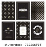 merry christmas greeting cards...   Shutterstock .eps vector #732266995