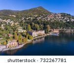 luxury hotel in cernobbio  lake ... | Shutterstock . vector #732267781