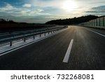brand new highway in serbia ... | Shutterstock . vector #732268081