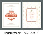 christmas greeting card design... | Shutterstock .eps vector #732270511