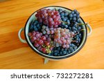 red and white grapes on wooden... | Shutterstock . vector #732272281