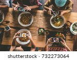 group of friend take a picture... | Shutterstock . vector #732273064