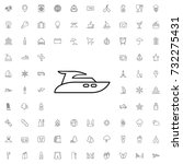 yacht icon. set of outline... | Shutterstock .eps vector #732275431