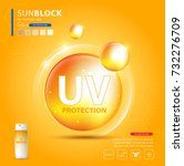 uv protection or ultraviolet... | Shutterstock .eps vector #732276709