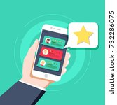star   user rating  bookmark... | Shutterstock .eps vector #732286075