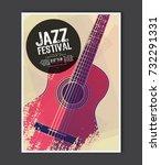 music poster template. vector... | Shutterstock .eps vector #732291331