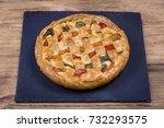 homemade organic chicken pie... | Shutterstock . vector #732293575