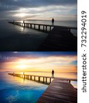 before and after example of... | Shutterstock . vector #732294019