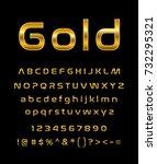 gold letter set | Shutterstock .eps vector #732295321