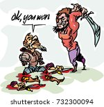 cartoon sketch  depicting the...   Shutterstock .eps vector #732300094