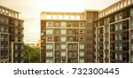 new modern apartment building | Shutterstock . vector #732300445