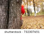 kids in autumn park with... | Shutterstock . vector #732307651