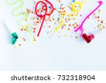 birthday party things | Shutterstock . vector #732318904