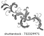 black victorian embroidery... | Shutterstock .eps vector #732329971