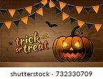 halloween party trick or treat... | Shutterstock .eps vector #732330709
