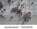 crowd of people in center of... | Shutterstock . vector #73233445
