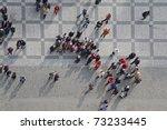 crowd of people in center of... | Shutterstock . vector #73233445