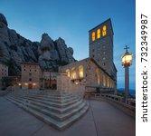 spain. montserrat monastery.... | Shutterstock . vector #732349987