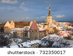 panoramic view of the castle... | Shutterstock . vector #732350017