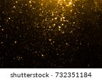 abstract gold bokeh with black... | Shutterstock . vector #732351184