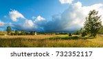 Rural Landscape With Haystacks...