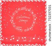 christmas songs cover... | Shutterstock .eps vector #732357031