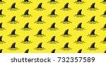 shark fin dolphin fin ocean... | Shutterstock .eps vector #732357589