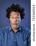 funny portraits of a guy who... | Shutterstock . vector #732360319