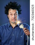 funny portraits of a guy who... | Shutterstock . vector #732360325