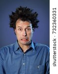 funny portraits of a guy who... | Shutterstock . vector #732360331