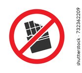 forbidden sign with chocolate... | Shutterstock .eps vector #732362209