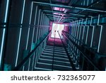 illumination in a glass elevator   Shutterstock . vector #732365077