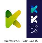 k letter logo template. vector...   Shutterstock .eps vector #732366115